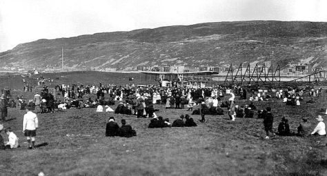 June 1919 Crowd awaiting departure of Alcock and Brown from St John's NFL