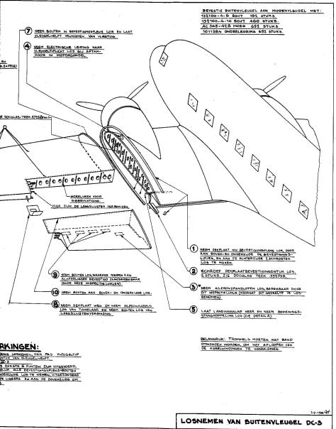 Part of the KLM protocol for dis-assembling wing of Douglas DC-3
