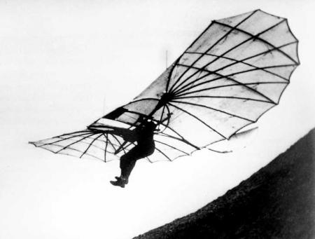 1890: the Wing Otto Lilienthal used